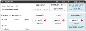 Delta Economy Basic Search Results